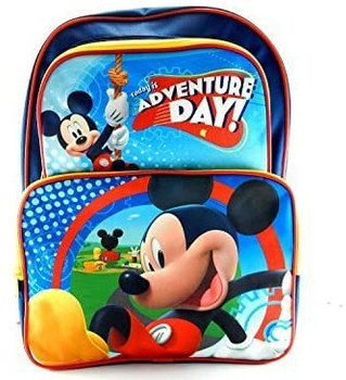"""Disney Mickey Mouse Adventure Backpack, 16"""""""