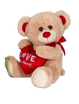 "Cuddle Beige Bear Plush ""Love you more"" 14"""