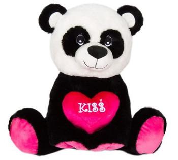 "Cuddle Panda Bear Plush ""KISS' 14"""