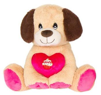 "Cuddle Beige Doggie Plush ""Sweet cup cake"" 14"""