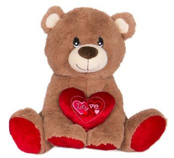 "Cuddle Tan Teddy Bear Plush ""Love"" 14"""