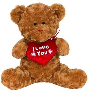 """Cuddle Teddy Bear Plush """"I Love you"""" 14"""""""