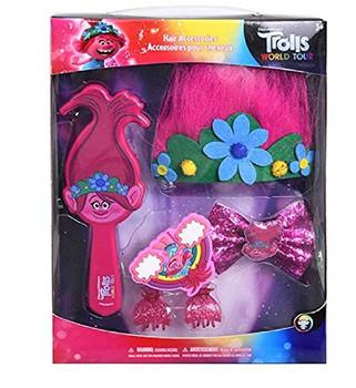 Trolls 2 Hair Accessories- Brush in Box
