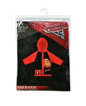 Disney Car Rain Poncho Coat Jacket Slicker 2T-4T Red