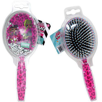 """Lol """"OMG"""" Animal Printed Hair Brush with Floating Confetti"""