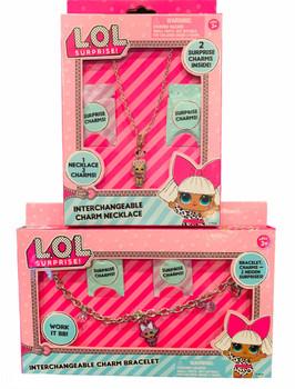 Lol Surprise Interchangeable Charm Necklace and Bracelet (2 Sets)
