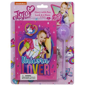 Jojo Siwa Diary with Pom Pen Unicorn Lover