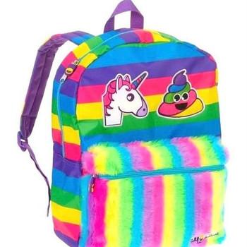 "Emoji Unicorn Rainbow Poop -16"" Backpack"