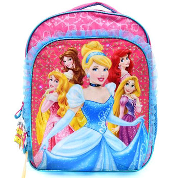 "Disney Princess 16"" Backpack Blue Lace"