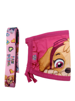 Paw Patrol Girls Reusable Face Mask Skye Puppy Smile w/ Removable Strap