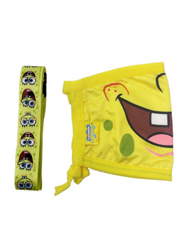 Kids Spongebob Squarepants Smile Reusable Face Mask Cover w/ Removable Strap
