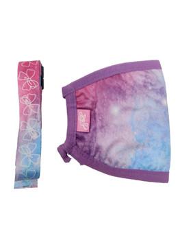 JoJo Siwa Tie-Dye Face Mask Cover Bows Stars w/ Pink Removable Strap