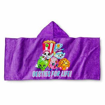"Shopkins ""BESTIES FOR LIFE"" Hooded Towel Wrap"