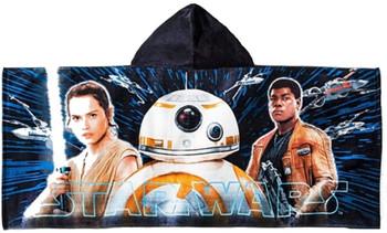 Disney Star Wars Kids Hooded Towel Wrap Finn, Rey & BB8