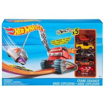 Hot Wheels Crane Crasher Track Set