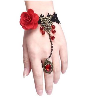 Retro Unique Fashion Elastic Colorful Rose Bracelet