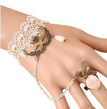 Wild Lace Mask Beautiful Flower Wrist Bracelet