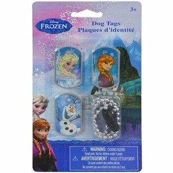Disney Frozen Dog Tag Necklace - Set of 3