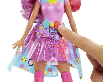 Barbie Video Game Hero Match Game Princess Doll, Pink