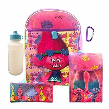 Dreamworks Trolls 5 Pc Backpack Set