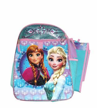 Disney Frozen Anna and Elsa School Backpack 5 pieces Set