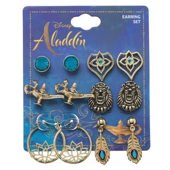 Disney Aladdin Princess Jasmine Earrings 6 Pack