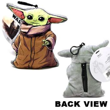"Star Wars ""The Child Baby Yoda 3D Shaped Plush Zipper Pull 4"""