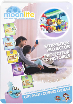 Nick Jr.  PAW Patrol Moonlite,  Gift Pack with Storybook Projector for Smartphones and 5 Story Reels