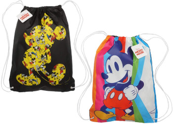 Disney Mickey Mouse : 18-inch Sling Bags Drawstring Cinch Sack (Set of 2)