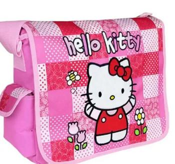 Hello Kitty Pink Checker Messenger Bag