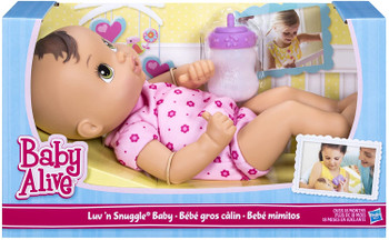 Baby Alive Luv 'n Snuggle Baby Brunette