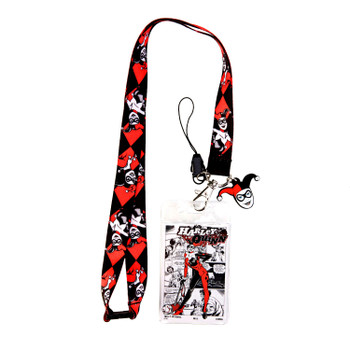 DC Comics Harley Quinn Lanyard with Soft Touch Dangle