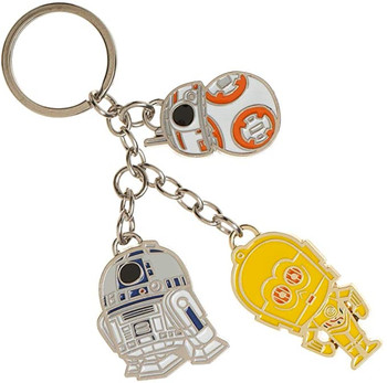 Star Wars Droid Keychain R2-D2, C3-PO and BB-8