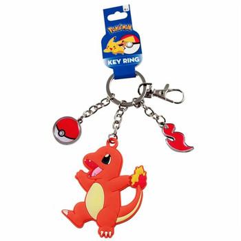 "Pokemon Charmander 3"" Rubber Key Chain"