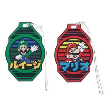 Super Mario Bros. Japanese Text Luggage Travel ID Tags