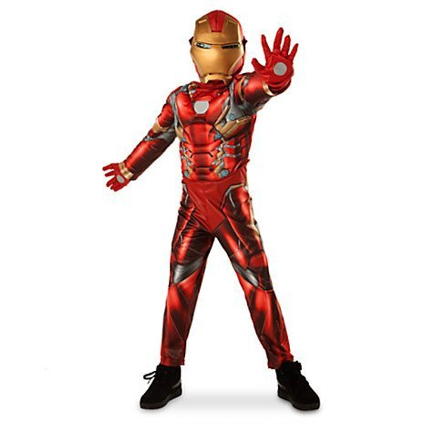 Disney Store Deluxe Iron Man Light Up Costume 7/8