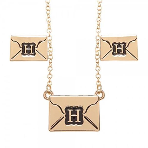 Harry Potter Envelope Letter Logo Crest Earring/Necklace/Tray Gift Set