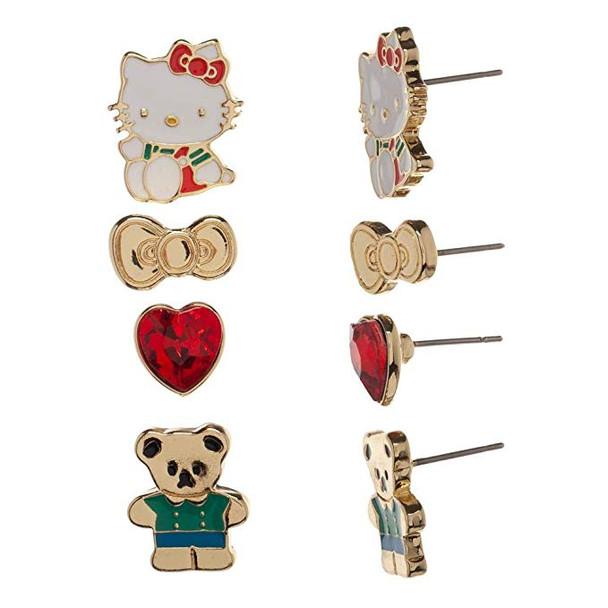 Hello Kitty 4 Pack Earrings Pack