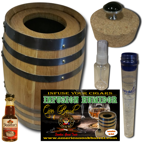 Infusion Humidor Cigar Barrel™ from Skeeter's Reserve Outlaw Gear™ - MADE BY American Oak Barrel™ - Southern Whiskey