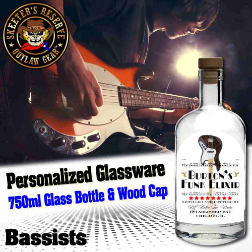 Personalized Private Label 750ml Glass Bottle with Wood Cap (B004) - Bassists