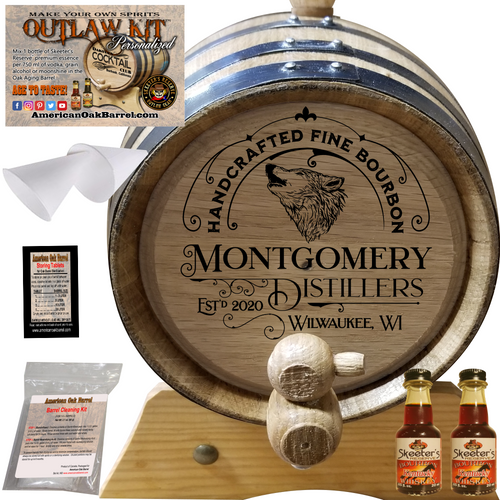 Personalized Outlaw Kit™ (302) Handcrafted Fine Bourbon - Create Your Own Spirits