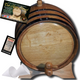 Authentic Charred Oak Aging Barrel - Age Your Own Spirits - Natural Oak With Black Hoops - from Skeeter's Reserve Outlaw Gear™ - MADE BY American Oak Barrel™