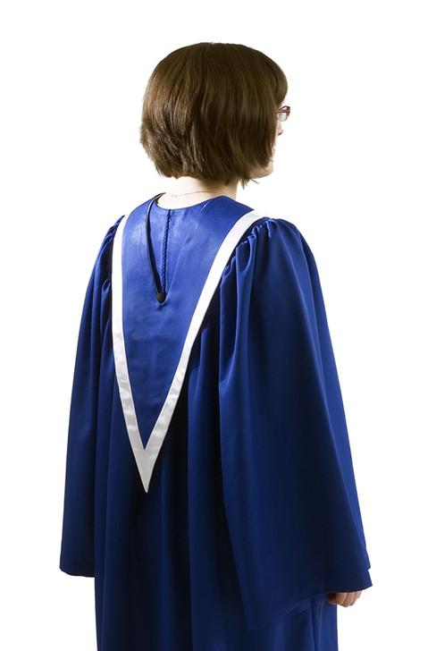 Back side of choir robe, showing back of stole