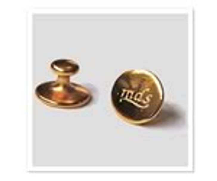 MDS Brass Button Studs / Collar Studs