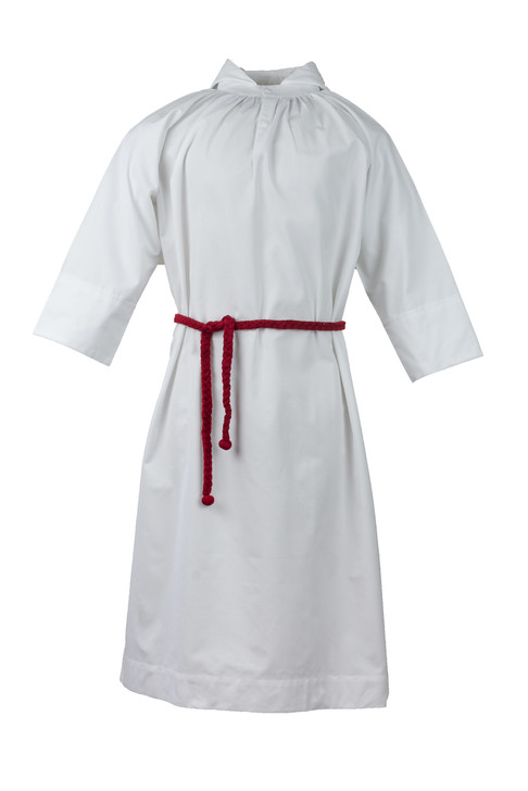 Traditional Altar Server Alb w/hood  Front