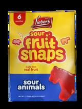 Lieber's Fruit Snaps Sour Animals, 170g