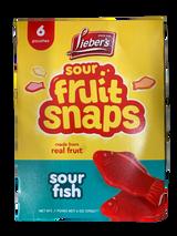 Lieber's Fruit Snaps Sour Fish, 170g