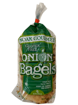 Noam Gourmet 4pk Onion Bagels, 12 Oz