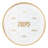 """Simcha 14"""" Round Seder Plate (1 Count)"""