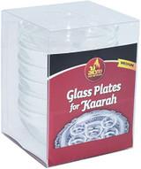 Ner Mitzvah Glass Plates for Kaarah, 6pk